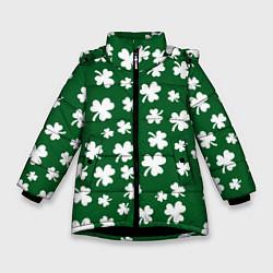 Куртка зимняя для девочки ДЕНЬ СВЯТОГО ПАТРИКА цвета 3D-черный — фото 1