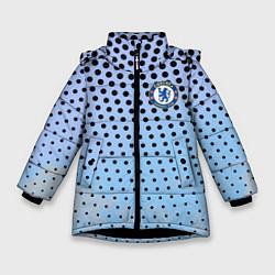 Куртка зимняя для девочки Челси цвета 3D-черный — фото 1