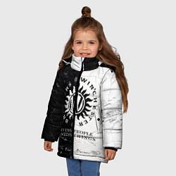 Куртка зимняя для девочки Winchester Brothers цвета 3D-черный — фото 2