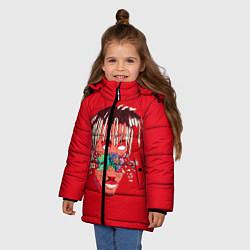 Детская зимняя куртка для девочки с принтом Juice WRLD, цвет: 3D-черный, артикул: 10213235906065 — фото 2