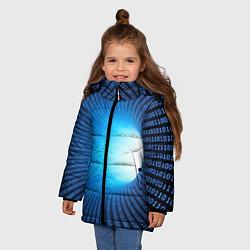 Куртка зимняя для девочки Tunnel цвета 3D-черный — фото 2