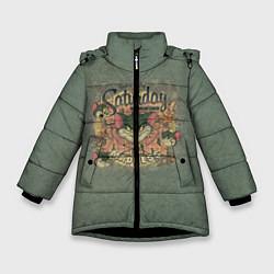 Куртка зимняя для девочки Saturday Madness цвета 3D-черный — фото 1