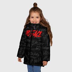 Куртка зимняя для девочки ЭТО FACE цвета 3D-черный — фото 2