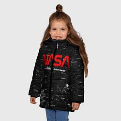 Куртка зимняя для девочки NASA цвета 3D-черный — фото 2