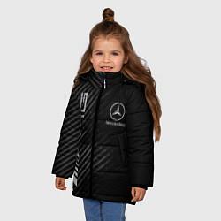 Куртка зимняя для девочки MERCEDES цвета 3D-черный — фото 2