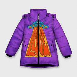 Куртка зимняя для девочки Vibes of Love цвета 3D-черный — фото 1