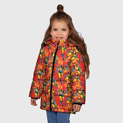 Куртка зимняя для девочки Росомаха цвета 3D-черный — фото 2