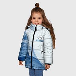 Куртка зимняя для девочки HYUNDAI цвета 3D-черный — фото 2