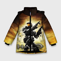 Куртка зимняя для девочки Halo Infinite цвета 3D-черный — фото 1
