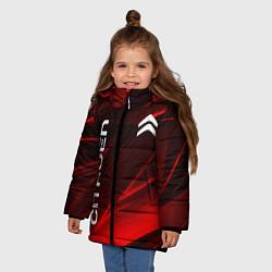 Куртка зимняя для девочки CITROEN цвета 3D-черный — фото 2