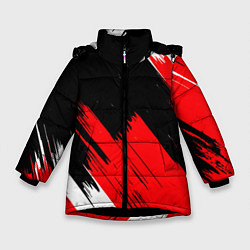 Куртка зимняя для девочки ТЕКСТУРА цвета 3D-черный — фото 1