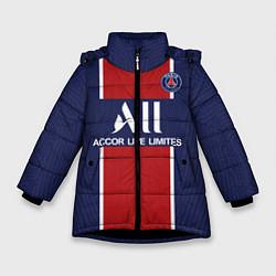Куртка зимняя для девочки PSG home 20-21 цвета 3D-черный — фото 1