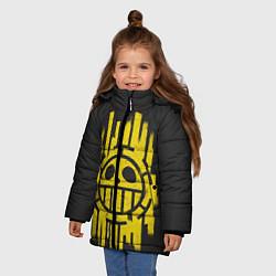 Куртка зимняя для девочки Skull One Piece цвета 3D-черный — фото 2