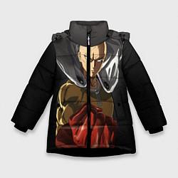Куртка зимняя для девочки One Punch Man цвета 3D-черный — фото 1