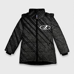 Куртка зимняя для девочки LADA цвета 3D-черный — фото 1