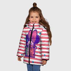 Детская зимняя куртка для девочки с принтом Minnie Mouse YUM!, цвет: 3D-черный, артикул: 10250082506065 — фото 2