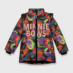 Детская зимняя куртка для девочки с принтом Minnie Bows, цвет: 3D-черный, артикул: 10250087306065 — фото 1