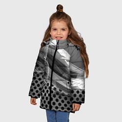 Куртка зимняя для девочки JAGUAR цвета 3D-черный — фото 2