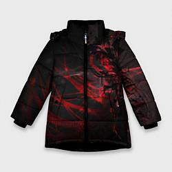 Куртка зимняя для девочки DIGITAL 3D цвета 3D-черный — фото 1