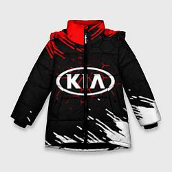 Куртка зимняя для девочки KIA цвета 3D-черный — фото 1