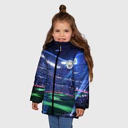 Куртка зимняя для девочки FC MANCHESTER CITY цвета 3D-черный — фото 2