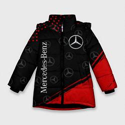 Куртка зимняя для девочки MERCEDES МЕРСЕДЕС цвета 3D-черный — фото 1