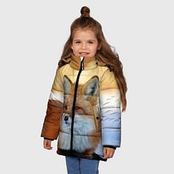 Куртка зимняя для девочки Лиса цвета 3D-черный — фото 2
