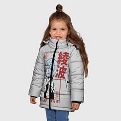 Куртка зимняя для девочки Рэй Аянами цвета 3D-черный — фото 2