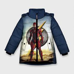 Куртка зимняя для девочки The Flash цвета 3D-черный — фото 1