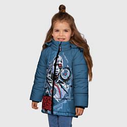 Куртка зимняя для девочки Cyborg цвета 3D-черный — фото 2