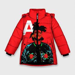 Куртка зимняя для девочки TheWeeknd цвета 3D-черный — фото 1