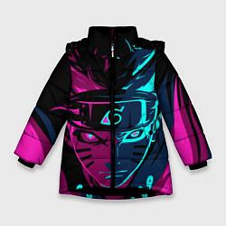 Куртка зимняя для девочки Неоновый НАРУТО цвета 3D-черный — фото 1
