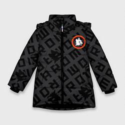 Куртка зимняя для девочки AS Roma Top 202122 цвета 3D-черный — фото 1