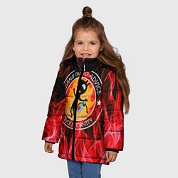 Куртка зимняя для девочки FIRE цвета 3D-черный — фото 2