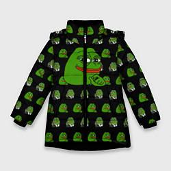 Куртка зимняя для девочки Frog Pepe цвета 3D-черный — фото 1