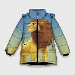 Куртка зимняя для девочки Взрослый Симба цвета 3D-черный — фото 1