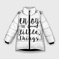 Куртка зимняя для девочки Enjoy цвета 3D-черный — фото 1
