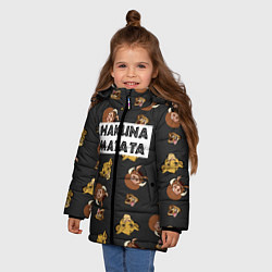 Куртка зимняя для девочки Hakuna Matata цвета 3D-черный — фото 2