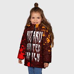 Куртка зимняя для девочки KIZARU КИЗАРУ цвета 3D-черный — фото 2