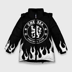 Куртка зимняя для девочки Chelsea BW цвета 3D-черный — фото 1