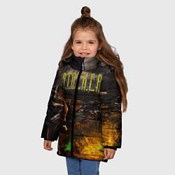 Куртка зимняя для девочки Stalker 2 цвета 3D-черный — фото 2