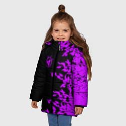 Куртка зимняя для девочки ПРОКЛЯТАЯ ПЕЧАТЬ САСКЕ цвета 3D-черный — фото 2