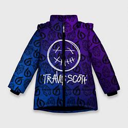 Куртка зимняя для девочки TRAVIS SCOTT цвета 3D-черный — фото 1