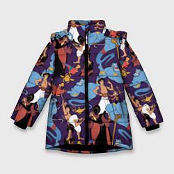 Куртка зимняя для девочки Aladdin цвета 3D-черный — фото 1