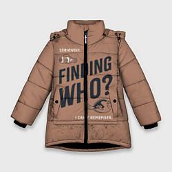 Куртка зимняя для девочки Finding Who? цвета 3D-черный — фото 1