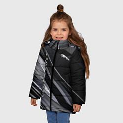 Куртка зимняя для девочки Jaguar Ягуар цвета 3D-черный — фото 2