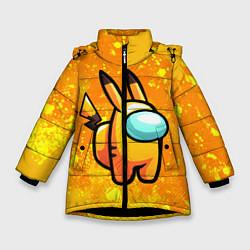Куртка зимняя для девочки AMONG US - Pikachu цвета 3D-черный — фото 1