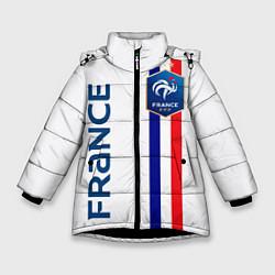 Куртка зимняя для девочки СБОРНАЯ ФРАНЦИЯ цвета 3D-черный — фото 1
