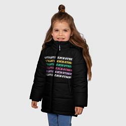 Куртка зимняя для девочки Прокачаем друг друга цвета 3D-черный — фото 2
