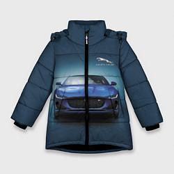 Куртка зимняя для девочки Jaguar цвета 3D-черный — фото 1
